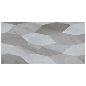 настенная плитка Голден Тайл Lazurro Leaves серый декор 30х60